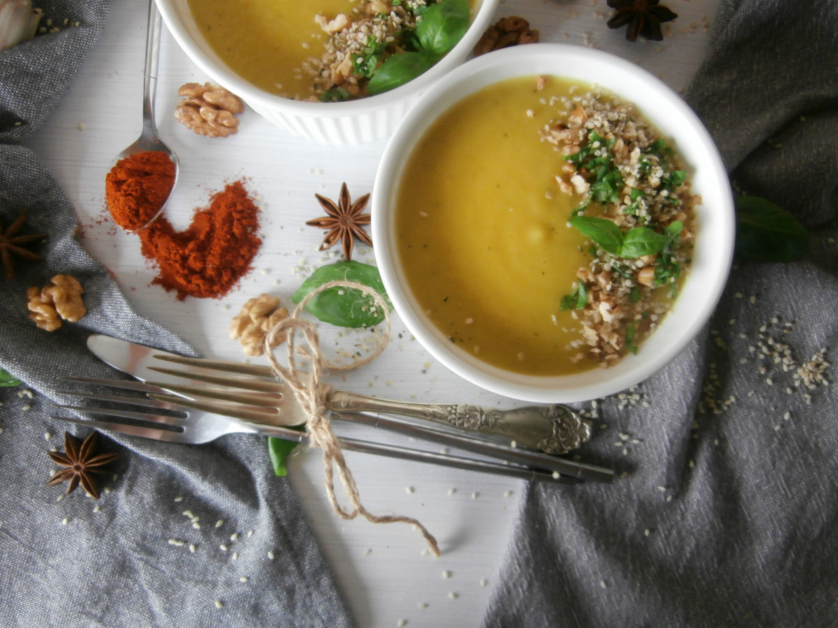 Zupa krem z pora i cykorii