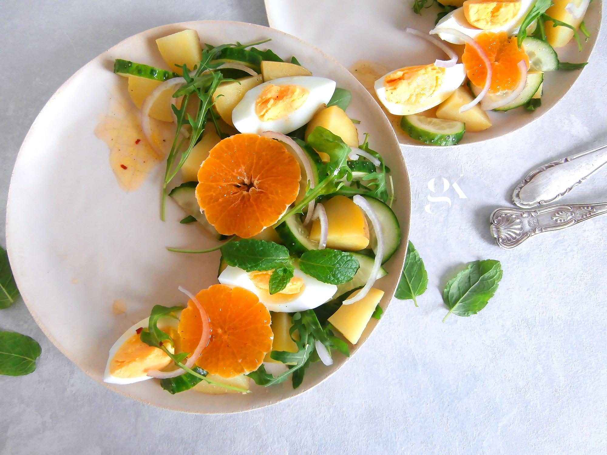 Sałatka ziemniaczana z dressingiem cytrusowym